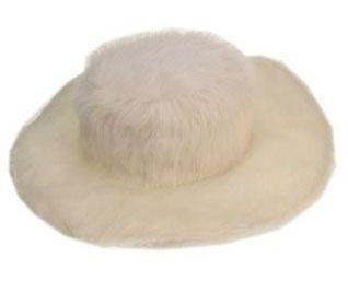 Pimp hat white fur flat model