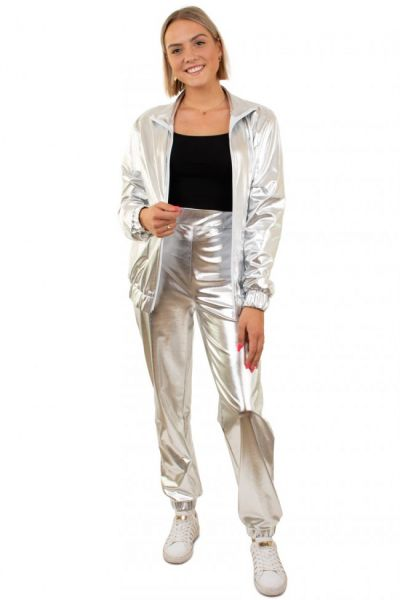 Silver Tracksuit Woman
