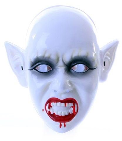 Zombie mask with bloody mouth