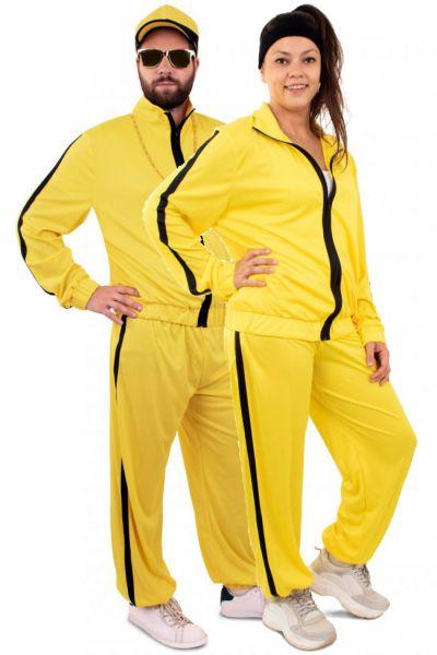 Hip hop gabber training suit yellow