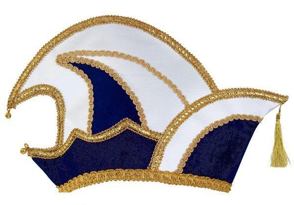 Prince Carnival stitch hat blue velvet