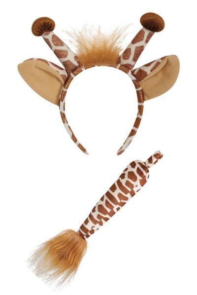 Giraffe hairband with tail