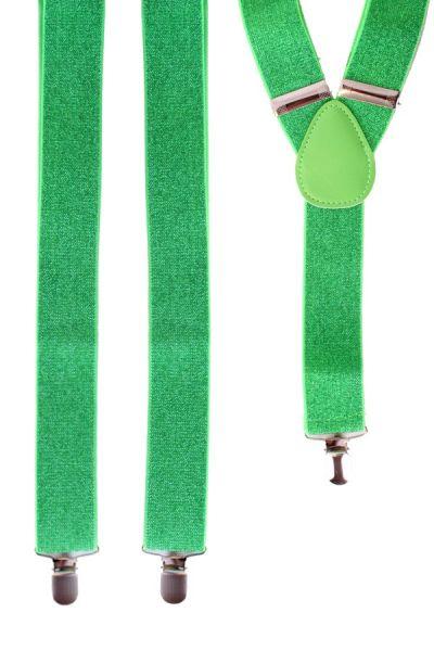 Suspender green with glitter