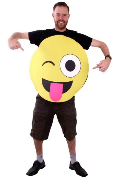 Emoticon smiley with tongue costume Emoji