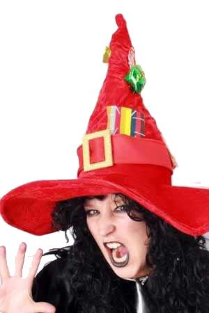 Witch hat luxury red with deco