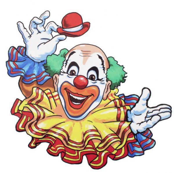 Window sticker cheerful clown