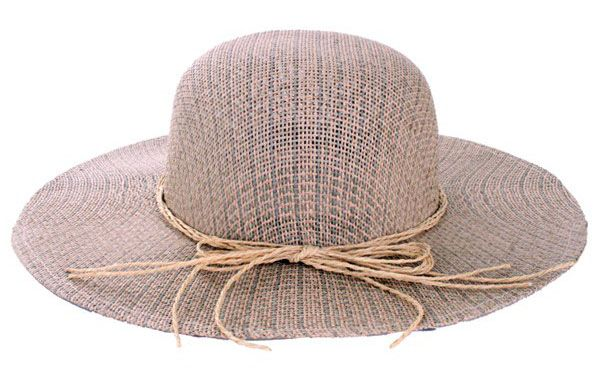 Ladies hat straw luxury with strap of rope