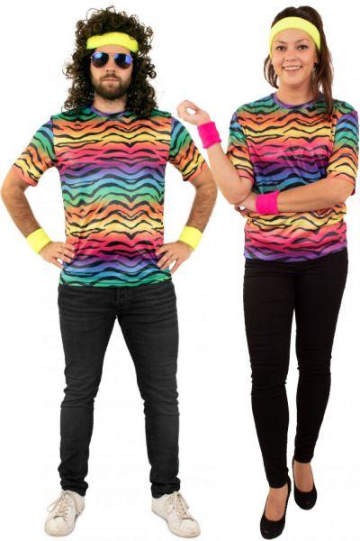 Hippie T-shirt neon tiger print