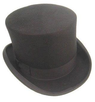 High top hat wool felt black