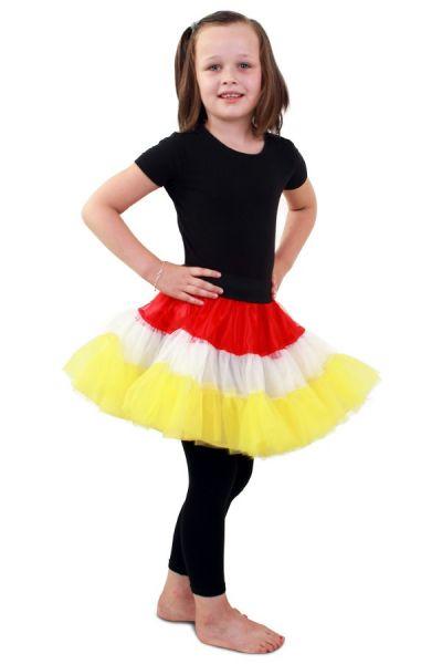 Petticoat red white yellow 3-layer kids