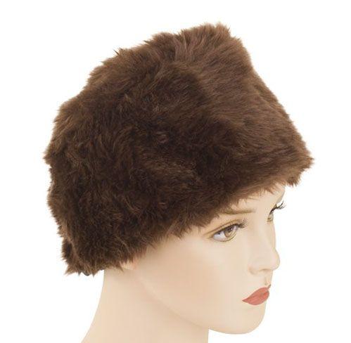 Fur hat brown