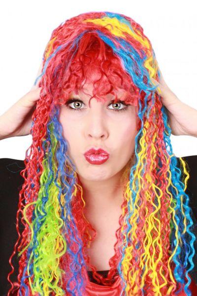 Wig Ladies Serpentine rainbow colors