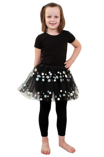 Tulle skirt black with dots girls