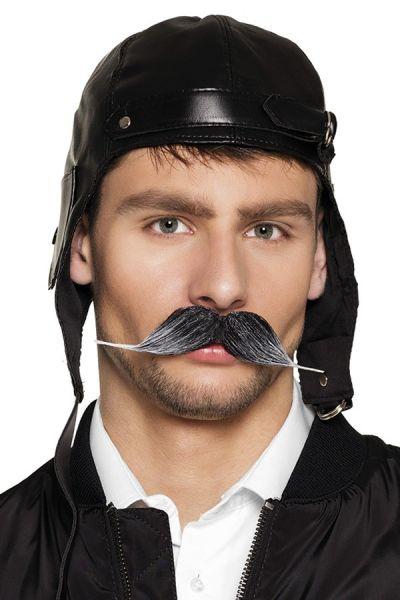 Pilot mustache gray