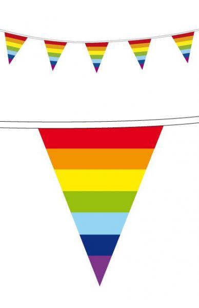 Flag line 50 m Rainbow party decoration
