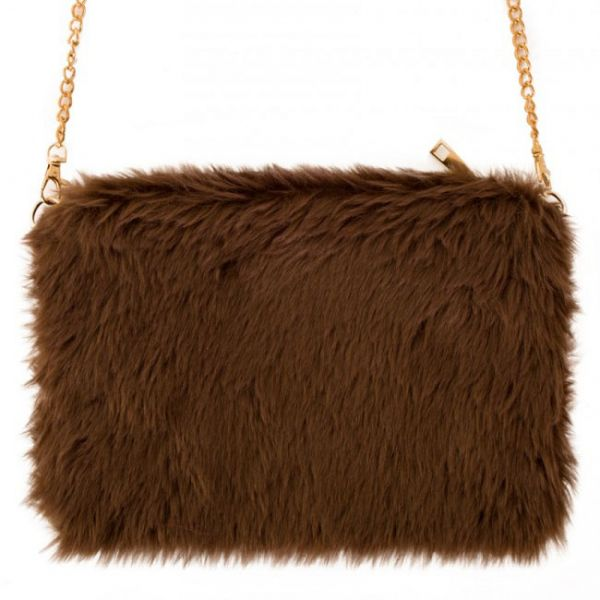 Bag brown fur plusche