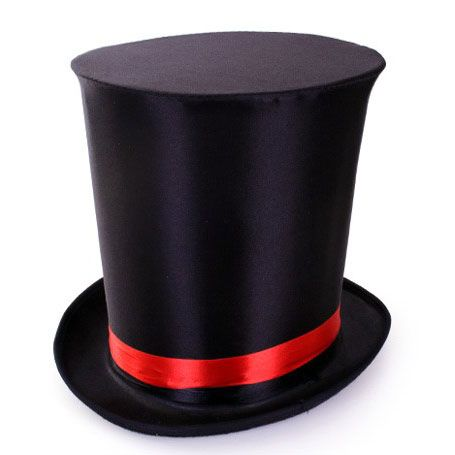 Extra top hat black magician circus