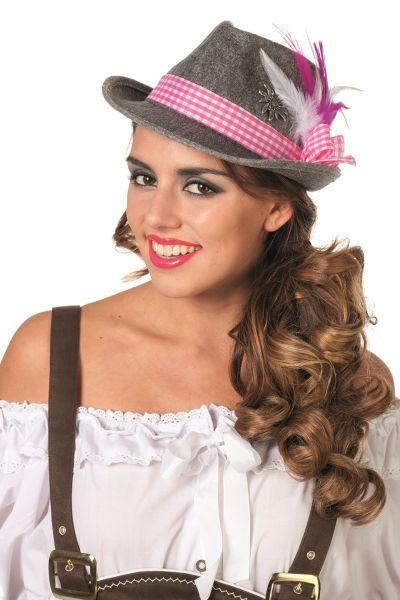 Oktoberfest hoed edelweiss geruite band