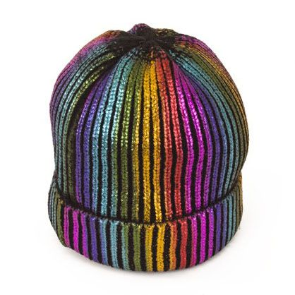 Ice hat rainbow with glitter