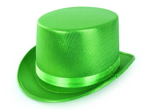High hat metallic green