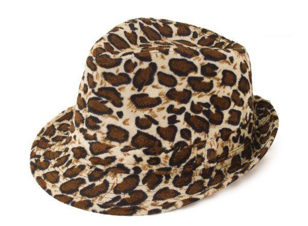 Gangster pimp leopard print hat