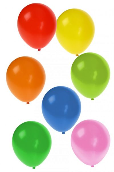 Balloons Assorted colors 100 pieces nr 9