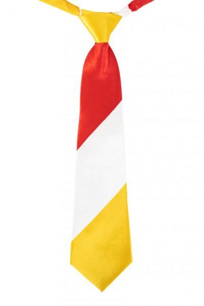 Necktie red white yellow striped