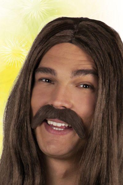 Mustache brown Hippie