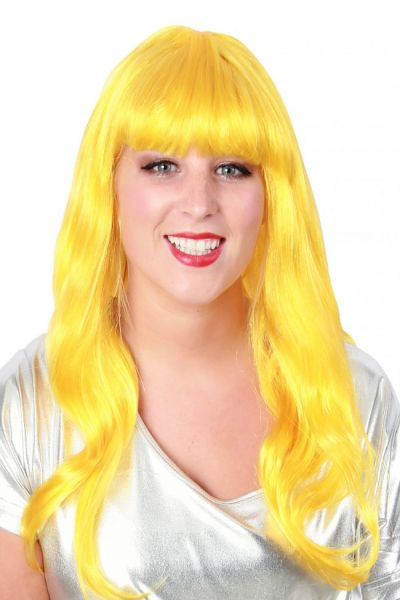 Ladies wig long style hair yellow