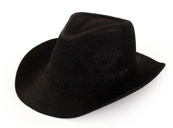 Cowboy hat black glitter