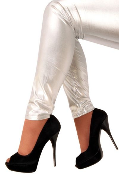 Legging metallic silver