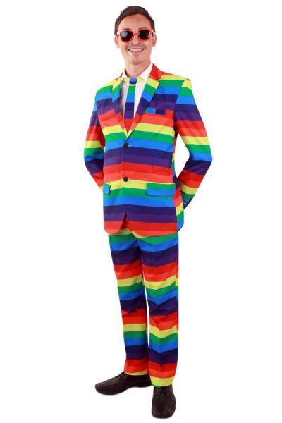 Rainbow costume man