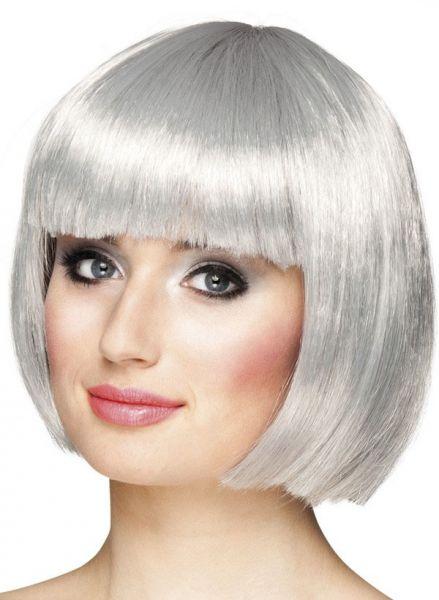 Ladies wig Bobline Silver Gray