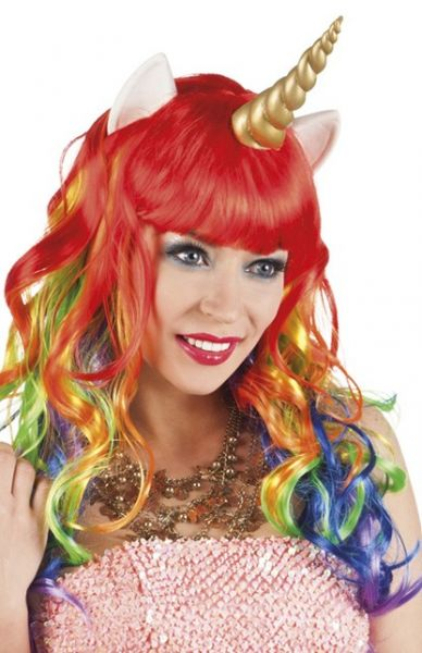 Wig Unicorn with horn and ears