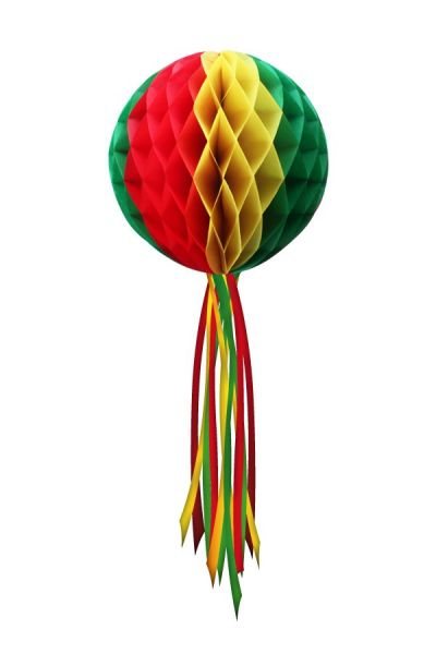 Decoration sphere red yellow green 20 cm