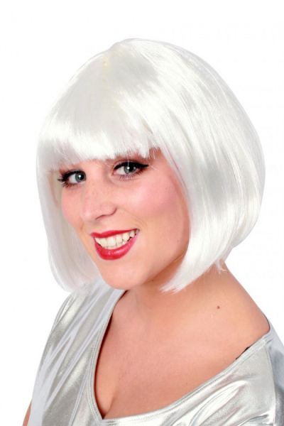 Bobline ladies wig white sensation