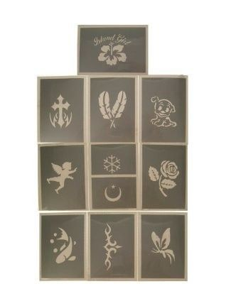 PXP glitter template 10 pieces Serie B