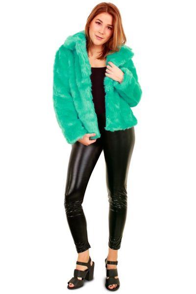 Ladies Fur coat turquoise