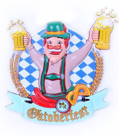 Oktoberfest man with beer mugs Deco 6 pieces