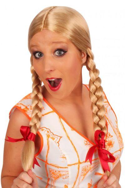 Oktoberfest Dirndl Wig Greetje blond