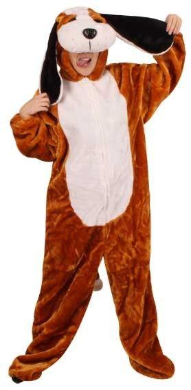 Plush dog costume for children