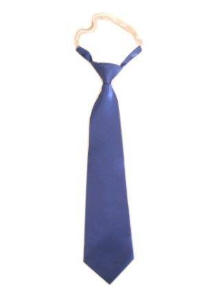 Long blue tie