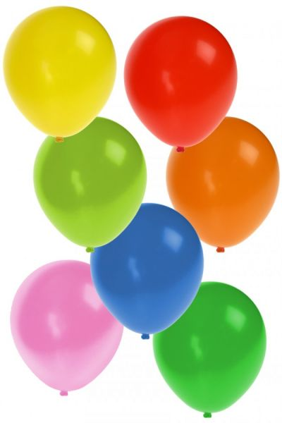 Helium balloons 50 pieces assorted colors nr 12