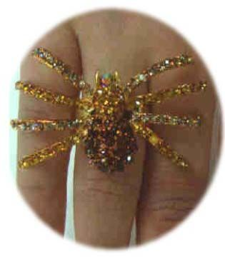 Luxury ring with gold spider adjustable