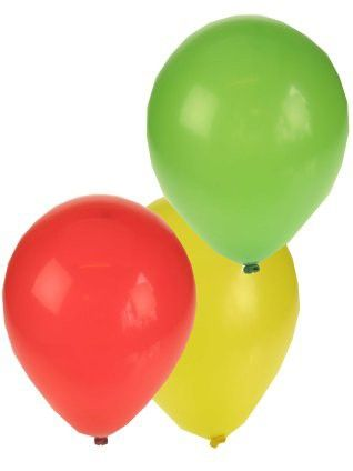Latex balloons red yellow green