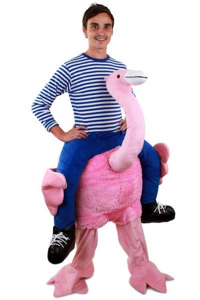 Funny Piggyback costume worn by Flamingo