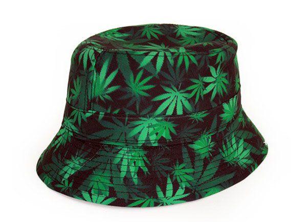 Fisherman hat weed leaf