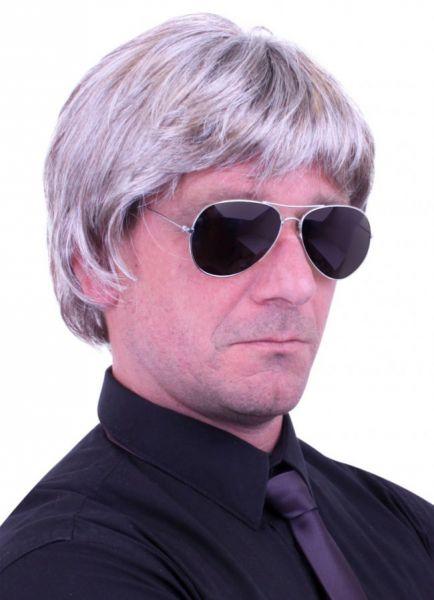 Men Wig gray hair