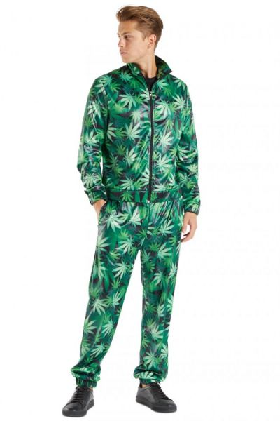 Tracksuit Cannabis leaf print Man