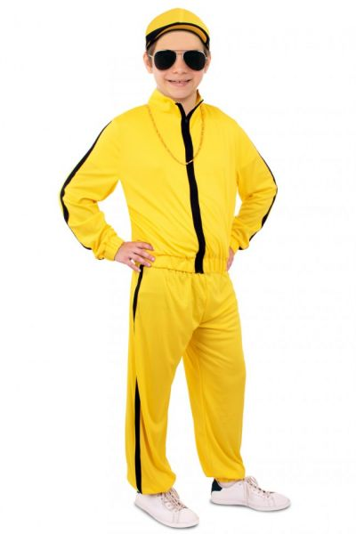 Hip hop gabber training suit yellow child